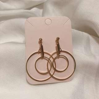 🚚 韓國🇰🇷 適合洋裝的3.5cm圈圈耳環 全新耳環 #五十元出清
