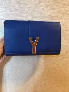 Saint Laurent YSL chained Clutch wallet on chain WOC 金鏈 手袋