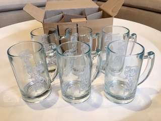 6 BN Tiger Beer Glasses