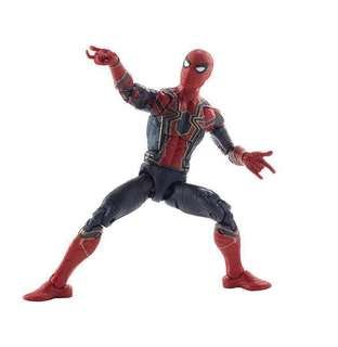 Loose Marvel Legends Infinity War Iron Spider Man Spiderman with Peter Parker Head