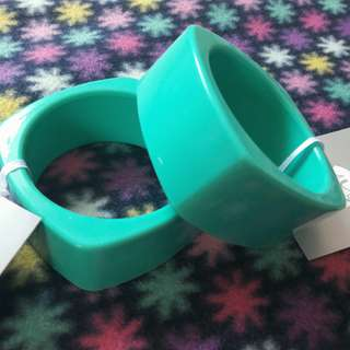 Teething Bangles Green