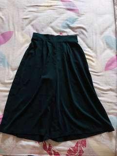 🚚 全新 高腰墨綠寬褲褲裙