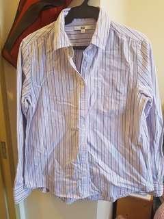 Uniqlo striped oxford shirt