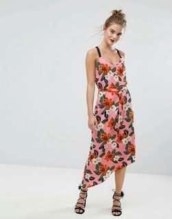 🐊Floral crisscross back dress
