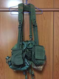 SAF Issue SBO with Ammo Pouch, Water Bottle, toggle ropes and Scout Bag