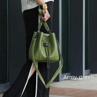 CHANNEL Two Strap Drawstring Bag