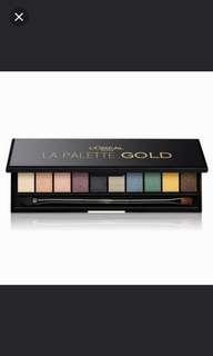 Loreal Paris La Palette Gold