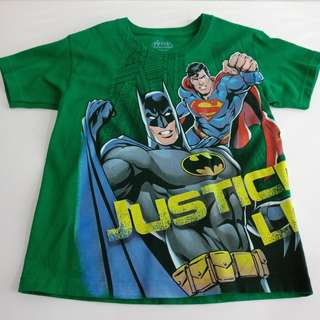 T Shirt JUSTICE LEAGUE sz 5 /6 yrs