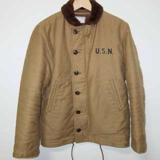 The Real McCoy's N-1 Deck Jacket 36 S Khaki McCoy N1 Small
