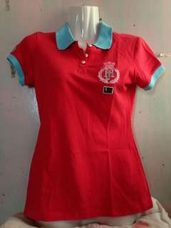 RED AND BLUE RINGER POLO SHIRT