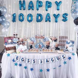 BOSS BABY TABLE DECOR AND BACKDROP