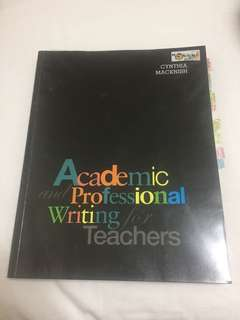 Academic and Professional Writing for Teachers