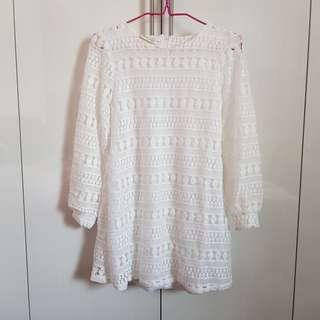 Instock BNIB White Lace Dress