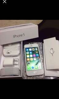 IPHONE 5 SILVER FACTORY UNLOCKED