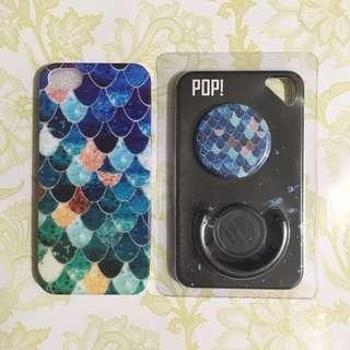 Mermaid Case + Popsocket for Iphone 5S/SE