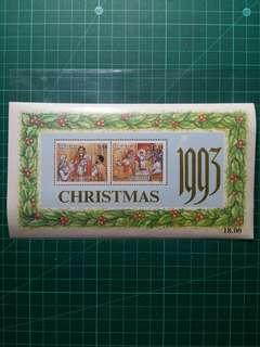 1993 斯里蘭卡 聖誕小全張 新票