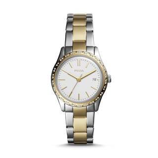 fossil ADALYN THREE-HAND TWO-TONE STAINLESS STEEL WATCH