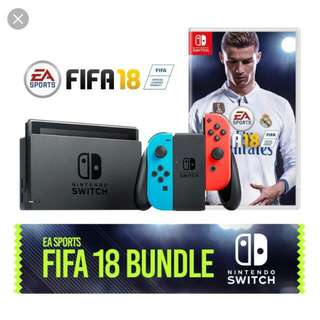 Nintendo Switch Fifa 18 Bundle