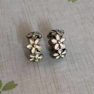 Authentic Pandora Darling Daisies Spacer Charm
