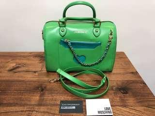 LOVE MOSCHINO Boston Bag in Jade/ Green Colour