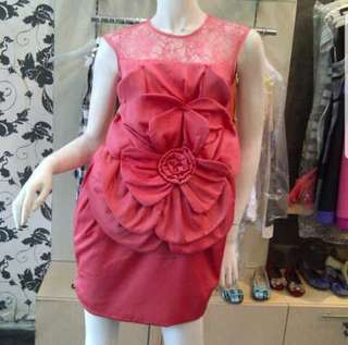 Pink rose party dress