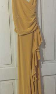Mustard Long/Formal Gown