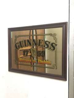 Vintage GUINNESS beer advertising Bar mirror 54x69cm
