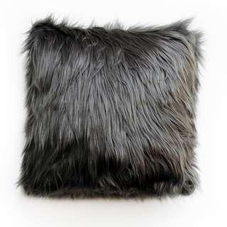 Midnight Fur Cushion 40 x 40