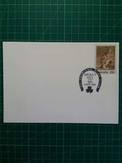 [均一價$10]1981 澳州斷山賽馬會 紀念戳郵資封