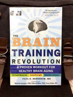 《New Book Condition + How To Regain, Retrain, And Maintain Your Brain》Dr Paul Bendheim - THE BRAIN TRAINING REVOLUTION : A Proven Workout For Healthy Brain Aging