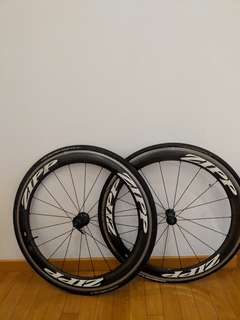 Zipp Carbon Clincher Wheels 60' with alloy rims