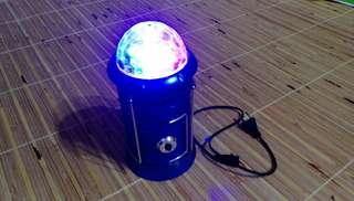 多功能伸縮露營燈 附電源插頭 USB孔