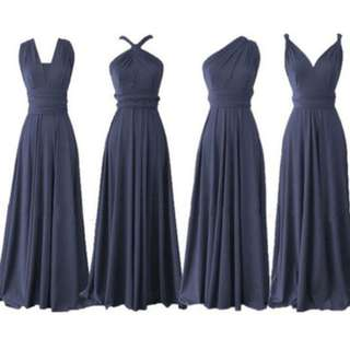 Infinity Dress/ Long Gown (Midnight Blue)