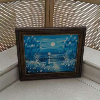 Cool Scenery Oil Painting with Wooden Frame