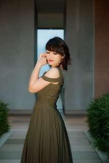 Ohvola Sweetheart Grecian Maxi Dress