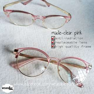 Anti-radiation eyeglasses (clear pink)