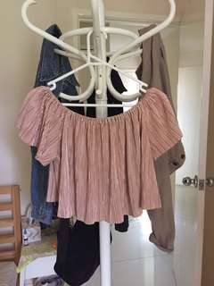 Off the Shoulder Missguided Shirt Size 6 / 34 // Glassons // Glue Store // Musthave