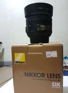Nikon lens 35mm 1.8g