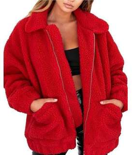 Red Sherpa Jacket
