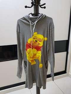 Winnie the Pooh Grey Hoodie Dress