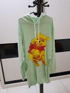 Winnie the Pooh Green Hoodie Dress