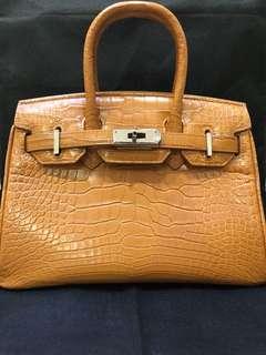 Authentic crocodile birkin and kelly bag