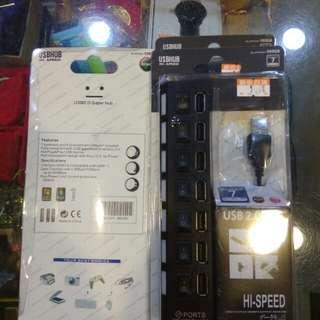 電腦7孔USB擴充(獨立開關)100元限來店買點我旋轉頭像看店址和逛上千種商品