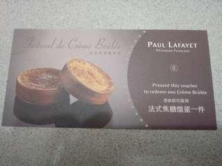 Paul Lafavet cream brulee coupon