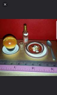 Miniature: Russian Borscht with Vodka Set