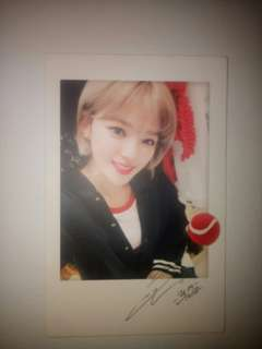 Twice Polaroid Jeongyeon (Twicetagram) and Twice Coaster Lane 1 Christmas Nayeon Photocard