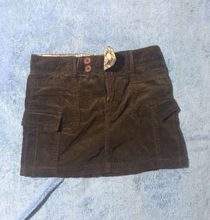 Benetton Girls Mini Skirt (Corduroy)