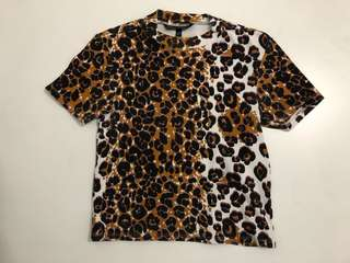 Topshop Animal Print Top