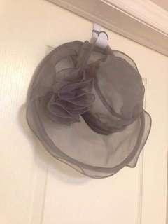 Brand new grey Kentucky derby wide brim hat