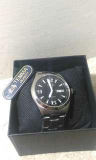 全新 日本機芯 不銹鋼錶帶 男錶 大錶面 復古 tenma vintage vespa  天馬 日期 星期 懷舊 古著